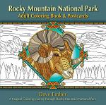 Rocky Mountain National Park Adult Coloring Book & Postcards