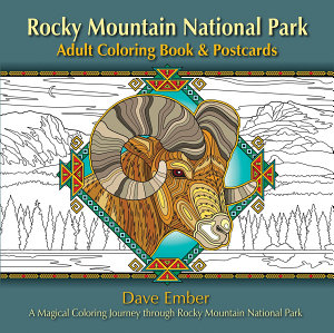 Rocky Mountain National Park Adult Coloring Book   Postcards