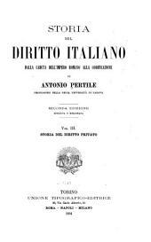 Storia del diritto italiano: dalla caduta dell'Impero romano alla codificazione, Volume 3