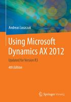 Using Microsoft Dynamics AX 2012 PDF