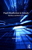 Pupil Disaffection in Schools PDF
