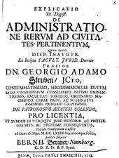De administratione rerum ad civitates pertinentium