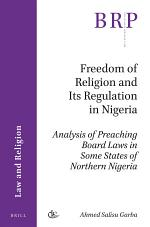 Freedom of Religion and Its Regulation in Nigeria