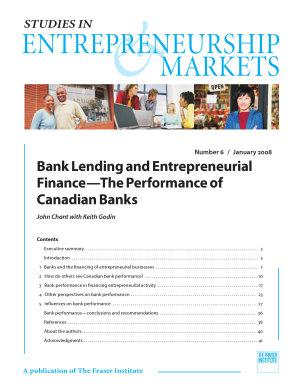 Bank Lending and Entrepreneurial Finance