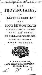 Les provinciales: Volume1