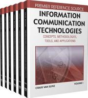 Information Communication Technologies  Concepts  Methodologies  Tools  and Applications PDF