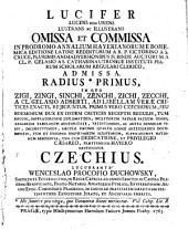 Lucifer lucens non urens lustrans ac illustrans omissa et commissa in prodromo annalium Hayekianorum (etc.)