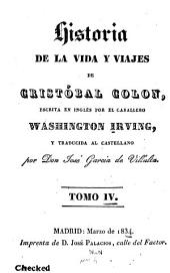 Historia de la vida y viajes de Cristóbal Colon: Volumen 4