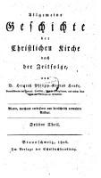 Allgemeine Geschichte der christlichen Kirche nach der Zeitfolge     hrsg  u  fortges  von Johann Severin Vater PDF