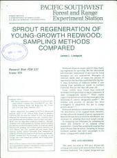 Sprout regeneration of young-growth redwood: sampling methods compared