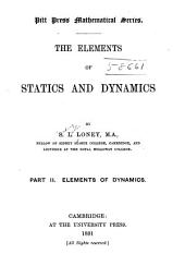 The Elements of Statics and Dynamics: Volume 2