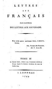 Lettres aux Français: Volume3