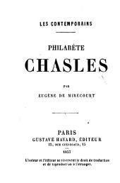Philarète Chasles