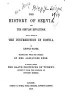 The History of Servia  and the Servian Revolution PDF