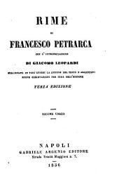 Rime di Francesco Petrarca, con l'interpretazione di G. Leopardi