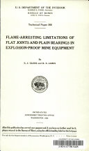 Flame-arresting Limitations of Flat Joints and Plain Bearings in Explosion-proof Mine Equipment