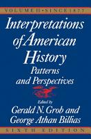 Interpretations of American History  6th Ed  Vol  PDF