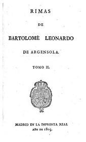 Rimas de Bartolomé Leonardo de Argensola: Volumen 2