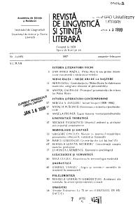 Revist   de lingvistic     i   tiin     literar   PDF