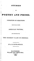 Studies in Poetry and Prose PDF