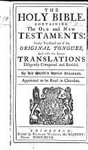 The Holy Bible, Etc. [With Marginal Notes and Preface by John Canne.] (The Psalms of David in Metre [as Allowed by the General Assembly of the Church of Scotland].).