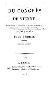 Du Congrès de Vienne: Volume1