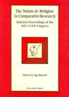 The Notion of  religion  in Comparative Research PDF