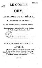 Le Comte Ory, anecdote du XIe siècle: vaudeville en 1 acte