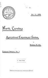 Tech. Bul. - North Carolina Agricultural Experiment Station: Volumes 1-15