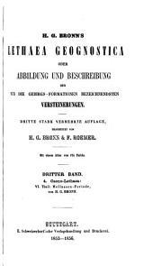 Lethaea geognostica, oder Abbildungen und beschreibungen der für die gebirgsformationen bezeichnendsten versteinerungen: Band 3