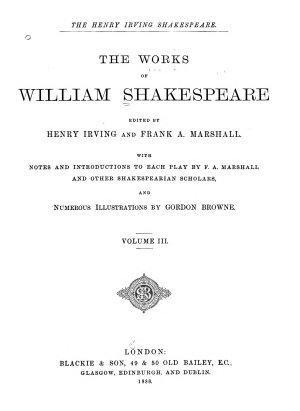 The Works of William Shakespeare  King Richard III   King John   Merchant of Venice   King Henry IV  part 1   King Henry IV  part 2