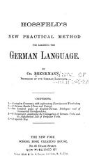 Hossfield s New Practical Method for Learning the German Language PDF