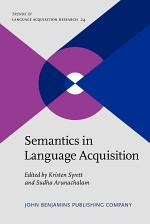 Semantics in Language Acquisition
