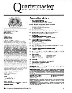 Quartermaster Professional Bulletin PDF