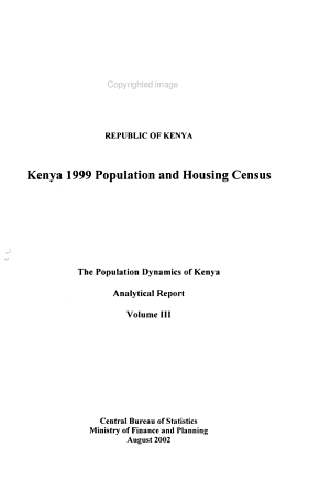 Kenya 1999 Population and Housing Census PDF