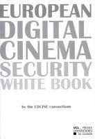 European Digital Cinema Security White Book PDF