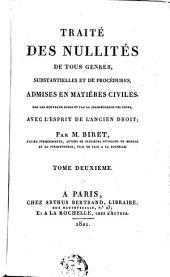 Traité des nullités de tous genres, substantielles et de procédures: Volume2