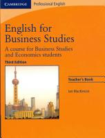 English for Business Studies Teacher s Book PDF