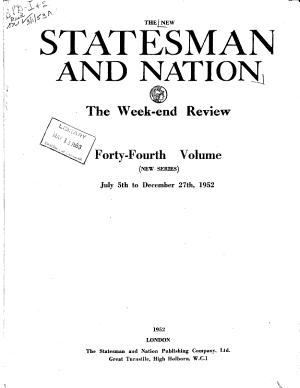 The New Statesman and Nation PDF