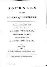 Journals of the House of Commons ...