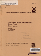 Earth Science Applied to Military Use of Natural Terrain PDF