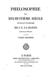 Philosophie du dix-huitième siècle: Volume1