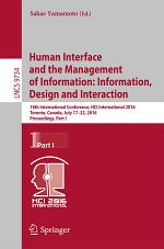 Human Interface and the Management of Information: Information, Design and Interaction