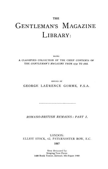 The Gentleman s Magazine Library  Literary curiosities and notes PDF