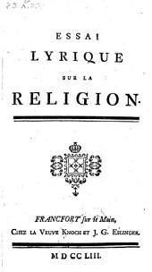 Essai lyrique sur la religion