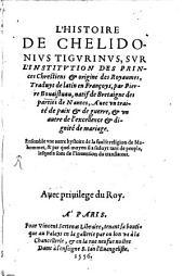 L' Histoire de Chelidonius Tigurinus sur l'Institution des Princes chrestien