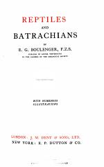 Reptiles and batrachians