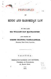 Principles of Hindu and Mahomedan Law