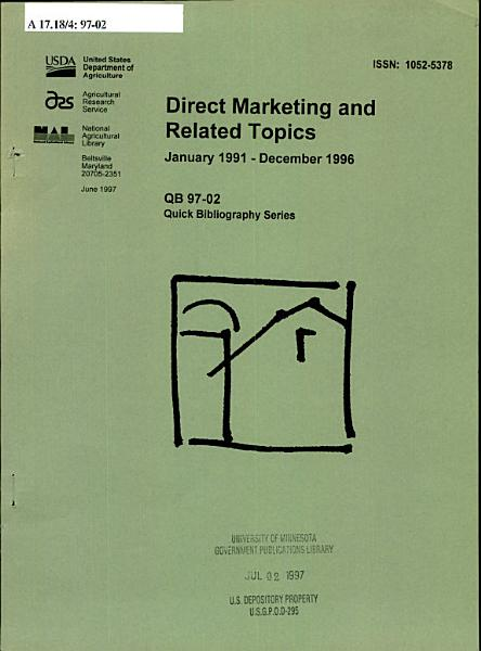 Direct Marketing and Related Topics PDF