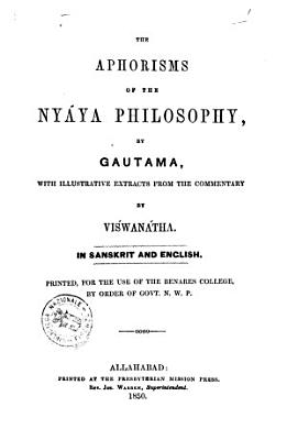 The Aphorisms of the Nyaya Philosophy by Gautama PDF